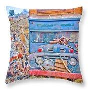 Classic Ward Colorado Boulder County Throw Pillow
