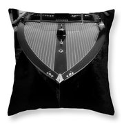 Classic Wooden Boat 2 Throw Pillow