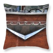 Classic Wooden Boat Throw Pillow