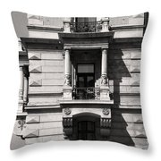 Classical Balcony Budapest Throw Pillow