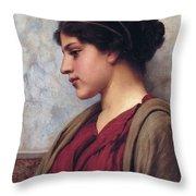Classical Beauty John William Godward Throw Pillow