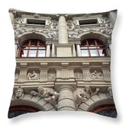 Classical Decorative Building Facade In Vienna Throw Pillow
