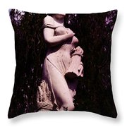 Classical Farm Girl Throw Pillow