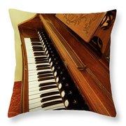 Vintage Organ Throw Pillow