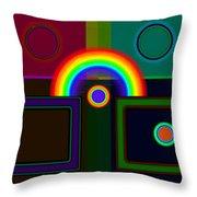 Classical Rainbow Throw Pillow