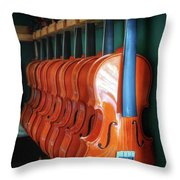 Classical Violins Throw Pillow