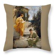 Classical Women Reading  Throw Pillow