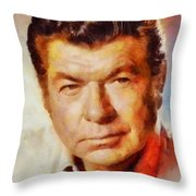 Claude Akins, Vintage Hollywood Actor Throw Pillow