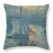 Claude Monet Sunrise Throw Pillow