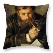 Claude Monet The Reader 1874 Throw Pillow