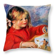 Claude Renoir At Play Sun 1905 Throw Pillow