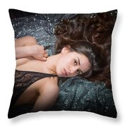 Claudia Nude Fine Art Print In Sensual Sexy Color 4884.02 Throw Pillow