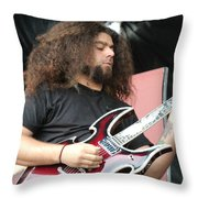 Claudio Sanchez Of Coheed And Cambria 2 Throw Pillow