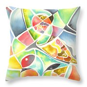 Claw Throw Pillow by Carolyn Weir