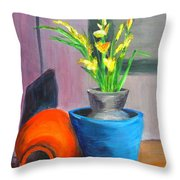 Clay Display Throw Pillow