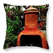 Clay Furnace Throw Pillow
