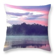 Clay Lake Sunrise Throw Pillow