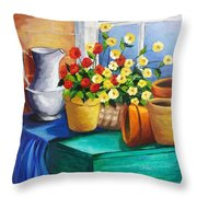 Clay Pots Throw Pillow