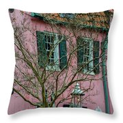 Clay Tile Roof In Charleston Throw Pillow