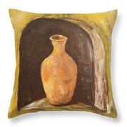 Clay Vase Throw Pillow