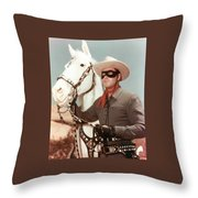 Claytn Moore The Lone Ranger Throw Pillow