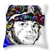 Clayton Kershaw La Dodger Throw Pillow