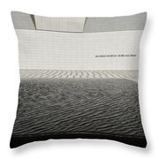 Clean Abstract Lines Of The Aga Khan Museum Facade With Black Po Throw Pillow