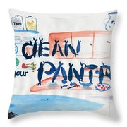 Clean Your Pantry Throw Pillow