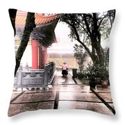 Cleaning Lady, Hong Kong Throw Pillow