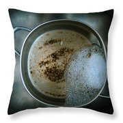 Cleaning The Pot Throw Pillow