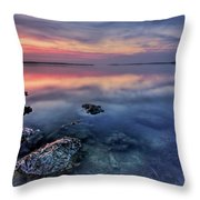 Clear Blue Morning Throw Pillow