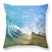 Clear Blue Wave Throw Pillow