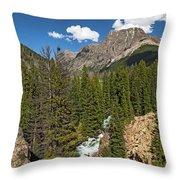 Clear Creek, Flat Top Mountain Throw Pillow