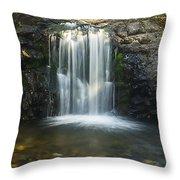 Clear Creek Water Fall Throw Pillow