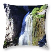 Clear Creek Waterfall  Throw Pillow