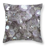 Clear Crystal Amethyst Throw Pillow