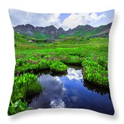 Clear Lake Reflections Throw Pillow