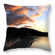 Clear Lake Sunset Throw Pillow