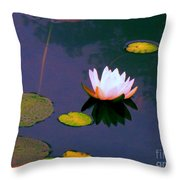 Clear Reflections Lotus Throw Pillow