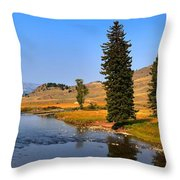 Clear Skies Over Slough Creek Throw Pillow