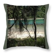 Clear Waters At The Beach Throw Pillow