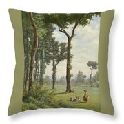 Clearance In An Oak Forest Throw Pillow