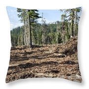 Clearcutting Throw Pillow