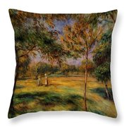 Clearing 1895 Throw Pillow