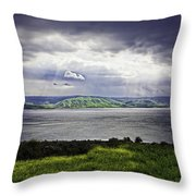 Clearing Over Galilee Throw Pillow