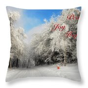 Clearing Skies Christmas Card Throw Pillow
