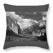 Clearing Skies Yosemite Valley Throw Pillow
