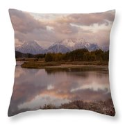 Clearing Storm At Oxbow Bend Throw Pillow