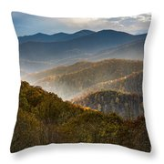 Clearing Storm At Webb Overlook Throw Pillow