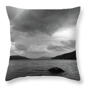 Clearing Storm, Lake Otsego Throw Pillow